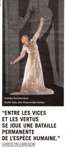 Carolyn Carlson dansera son Giotto solo au Panthéon en septembre 2016 - Article paru dans La Terrasse, par Agnès Izrine