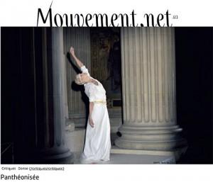 """""""Panthéonisée"""" par  Nicolas Villodre le 20 septembre 2016 sur www.mouvement.net"""