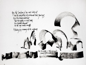 Carolyn-Carlson-And-theloneliness-1995-encre-de-chine-sur-papier-velin-Arches-57x76cm-©YoshiOmori